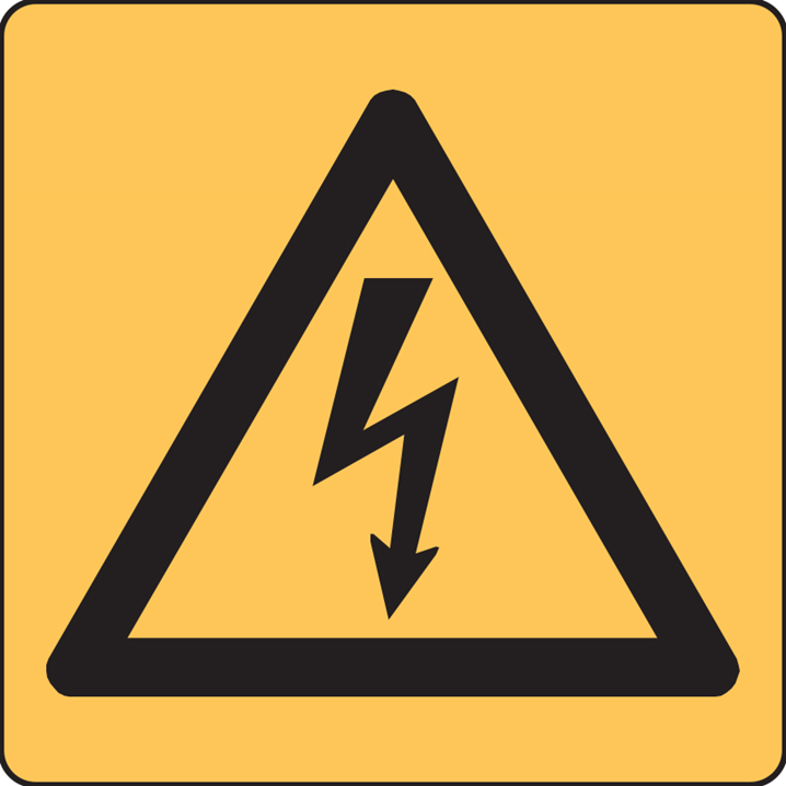 HIGH VOLTAGE SYMBOL 100X100 SS      - Image - 1