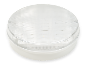 Trojan Round - White Clear, with MicrowaveSensor, LED Bulkhead