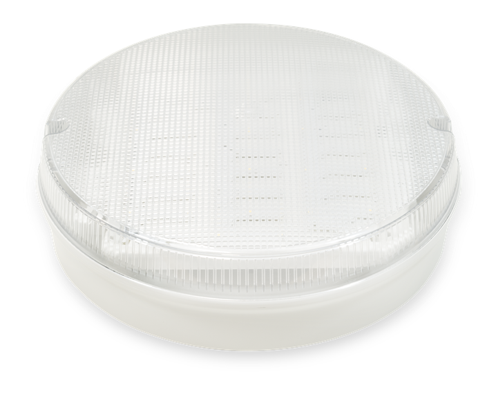 Trojan Round - White Clear, with MicrowaveSensor, LED Bulkhead - Image - 1