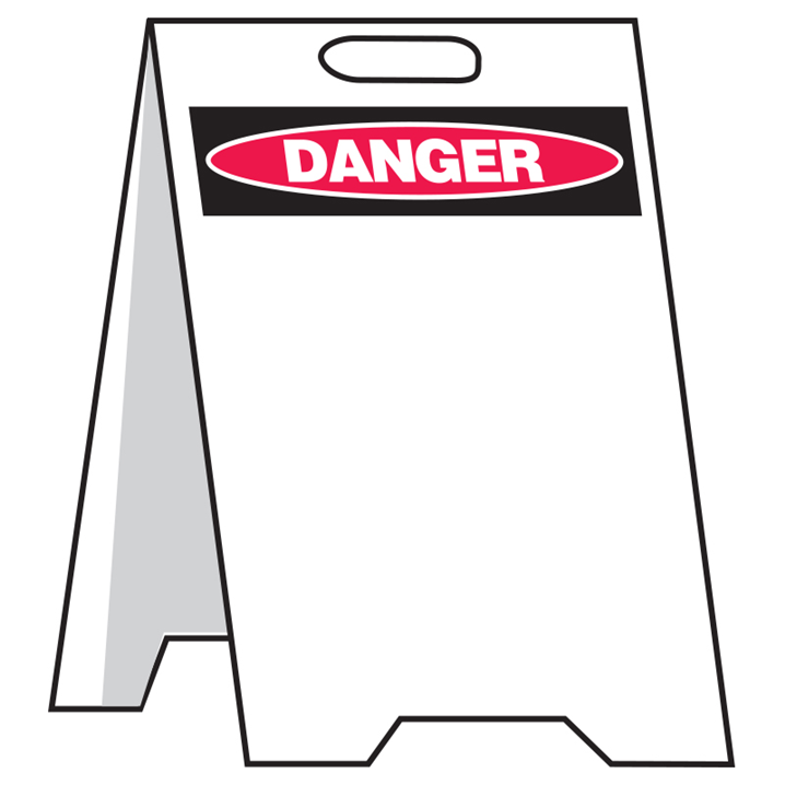WRITE ON/WIPE OFF FLOOR STAND DANGER   - Image - 1