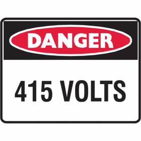 DANGER 415 VOLTS LBLS PK5