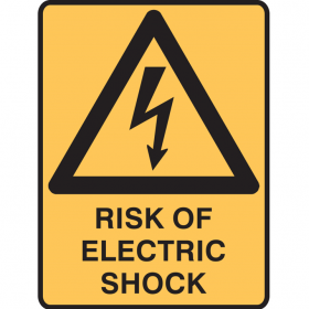 RISK OF ELECTRIC SHOCK 450X300 MTL