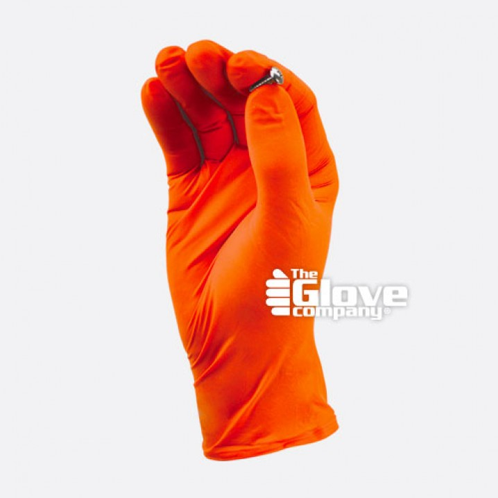 TGC® Orange Nitrile Disposable Glove - Small - Image - 3