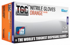 TGC® Orange Nitrile Disposable Glove - Small - Image Small - 1