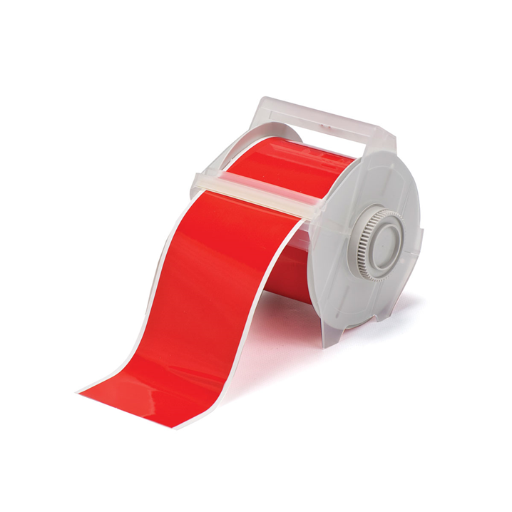 GLOBALMARK B595 VINYL TAPE RED 100MM X 30M    - Image - 1