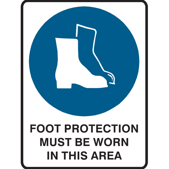 FOOT PROTECTION MUST BE.. 300X225 POLY  - Image - 1