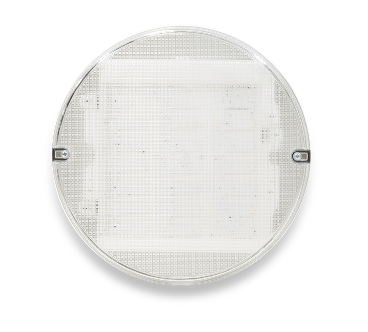 Trojan Round - White Clear, with MicrowaveSensor, LED Bulkhead - Image - 2