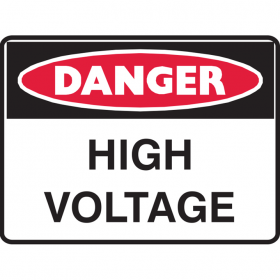DANGER HIGH VOLTAGE 450X300 POLY