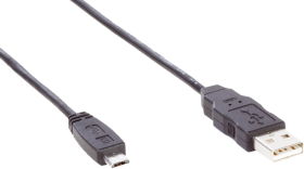 USB cable with male and male connector