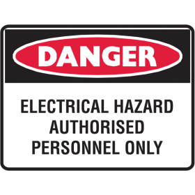 ELECTRICAL HAZARD AUTHORISED..LBLS PK5