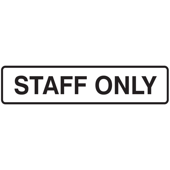 DOOR SIGN STAFF ONLY 200X45 SS PK5    - Image - 1