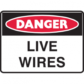 DANGER LIVE WIRES 250X180 SS