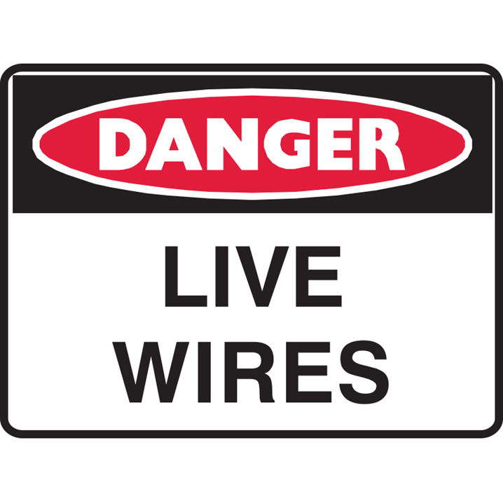 DANGER LIVE WIRES 250X180 SS       - Image - 1