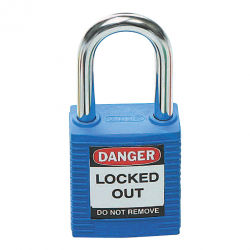 BRADY SAFETY PLUS PADLOCK BLUE