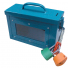 LOCK BOX WITH WINDOW BLUE