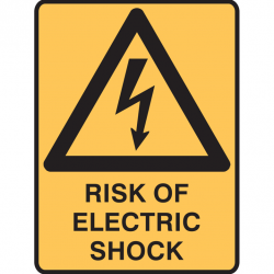 RISK OF ELECTRIC SHOCK 300X225 POLY