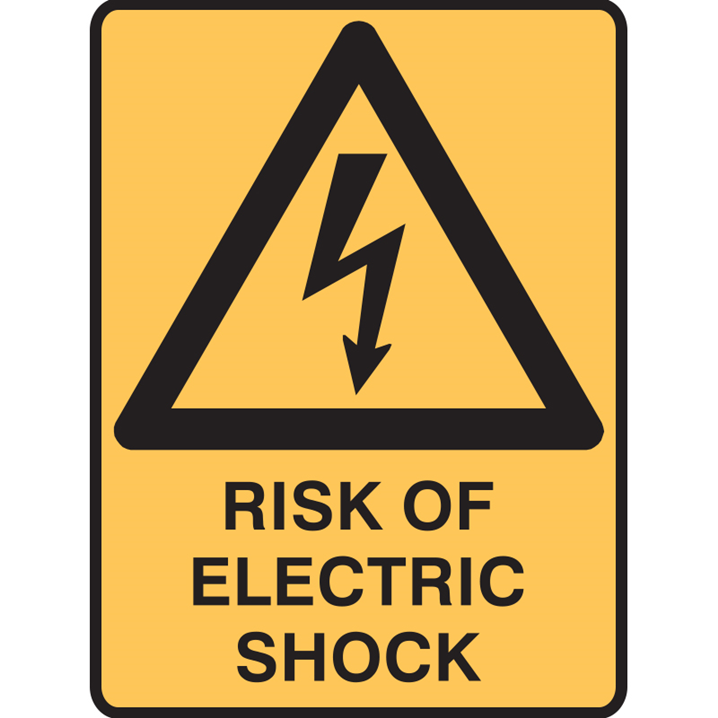 RISK OF ELECTRIC SHOCK 300X225 POLY    - Image - 1