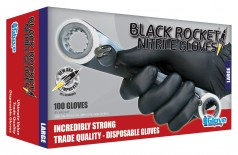 Black Rocket® Nitrile Disposable Glove - Medium - Image Small - 1