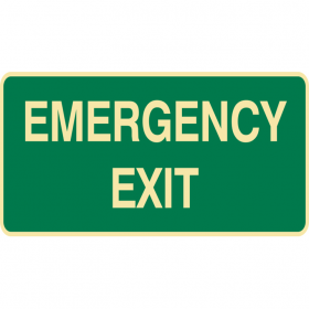 EXIT&EVAC SIGN EMERGENCY EXIT POLY