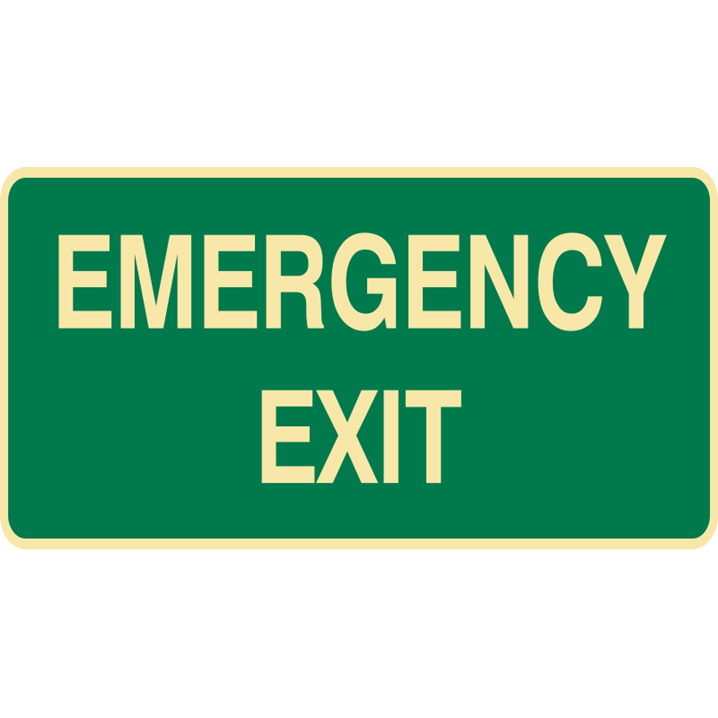 EXIT&EVAC SIGN EMERGENCY EXIT POLY    - Image - 1