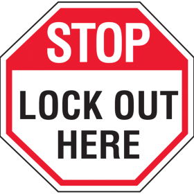 ARC & L.O LABEL STOP LOCK OUT..100X100