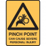 PINCH POINT CAN CAUSE.. 125X90 SS PK5