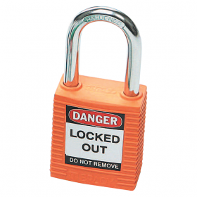 BRADY SAFETY PLUS PADLOCK ORANGE