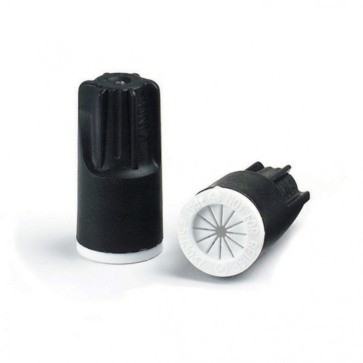 61135 DryConn® Black/White Irrigation Wire Connectors 25 Bag - Wire Size: 0.34 To 4.0mm - Image - 1