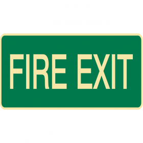 EXIT&EVAC SIGN FIRE EXIT LUM MTL