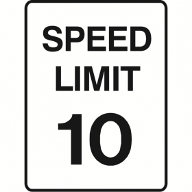 SPEED LIMIT SIGN 10 450X600 MTL