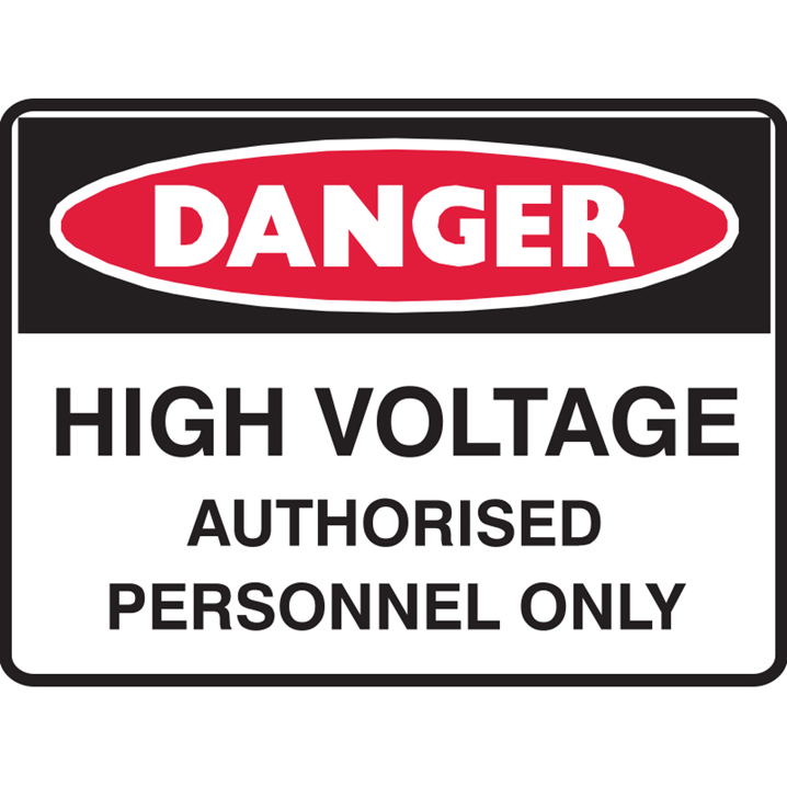 HIGH VOLTAGE AUTHORISED.. 600X450 POLY  - Image - 1