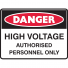 HIGH VOLTAGE AUTHORISED.. 300X225 POLY