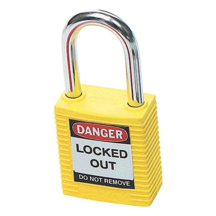 BRADY SAFETY PLUS PADLOCK YELLOW     - Image - 1