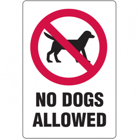 No Dogs Allowed - With Picto. - Metal, 300 X 450mm