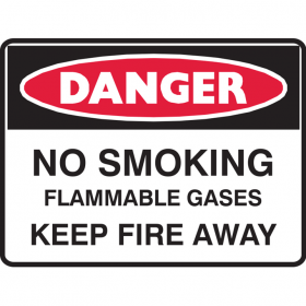 NO SMOKING FLAMMABLE GAS.. 450X600 MTL