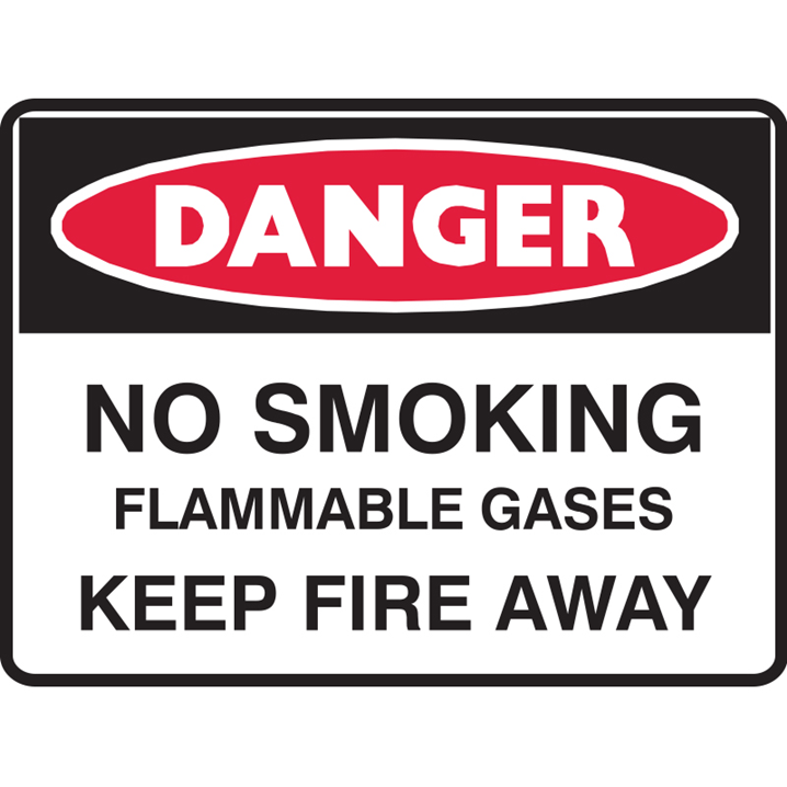 NO SMOKING FLAMMABLE GAS.. 450X600 MTL  - Image - 1