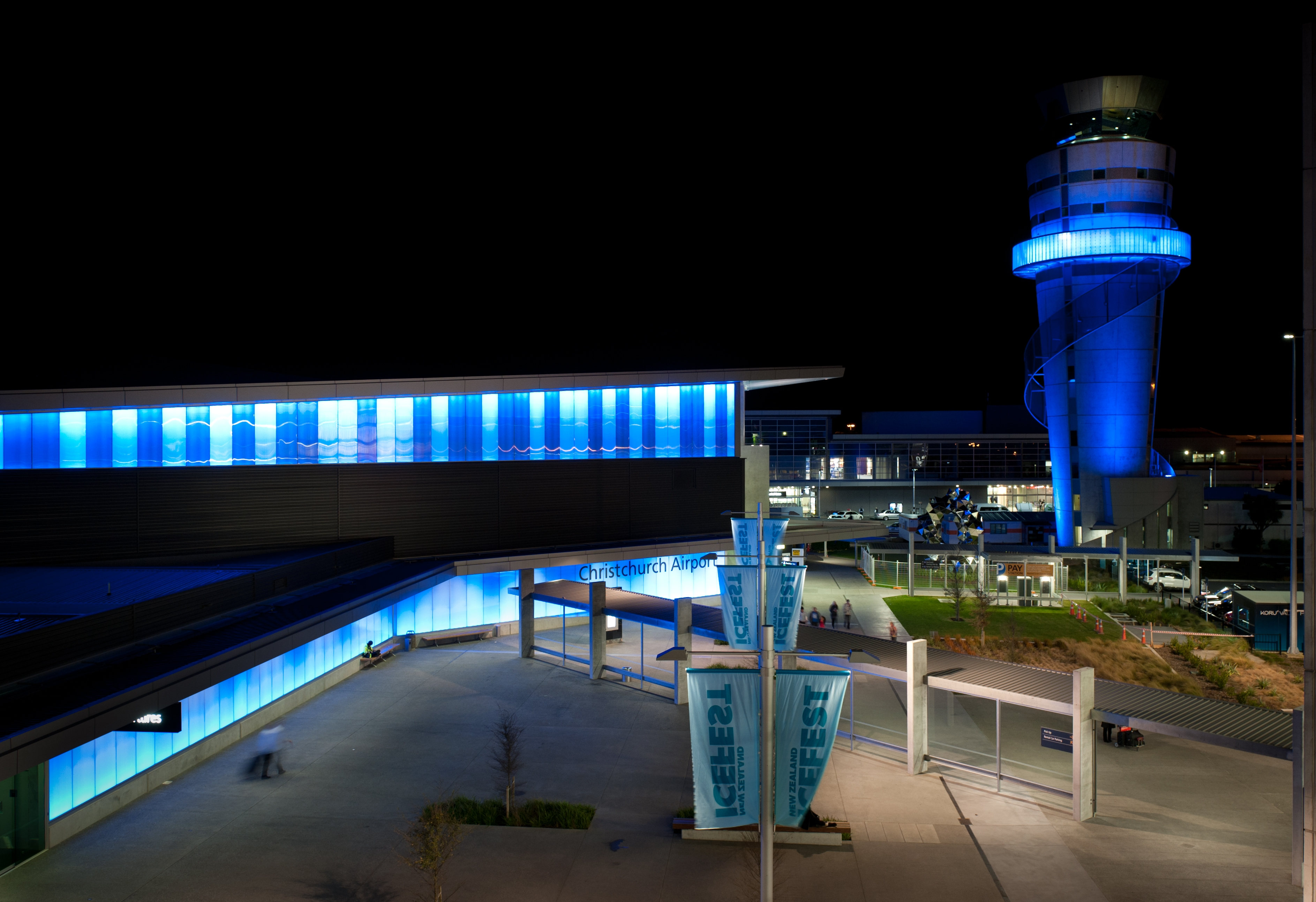 Image name going blue   sept2012 for CHRISTCHURCH AIRPORT project